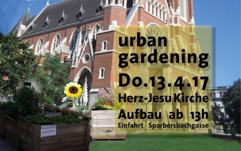 START – Urban Gardening vor der Herz-Jesu Kirche