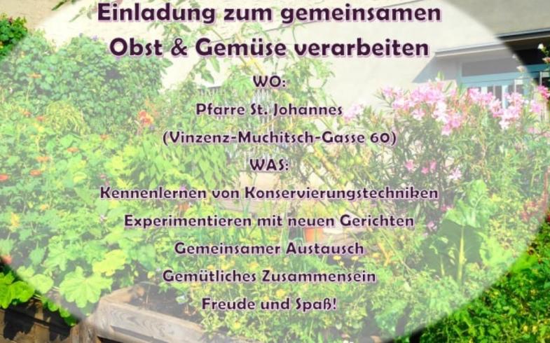 Einladung zum gemeinsamen Obst & Gemüse Verarbeiten